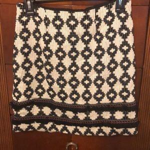 Textured pretty print skirt!!😊